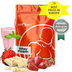 Whey protein 1 kg |whitechoco/strawberry stevia